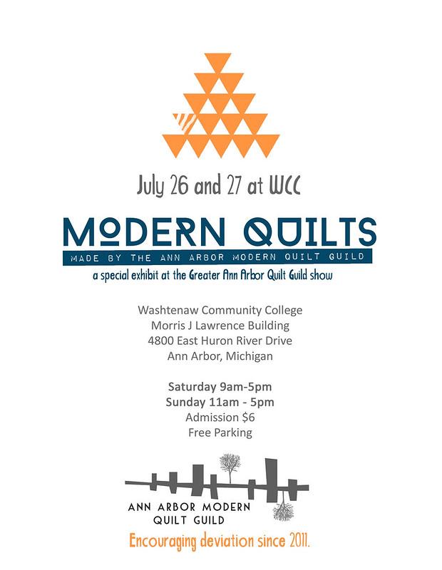 Modern Quilt Show Poster 2014