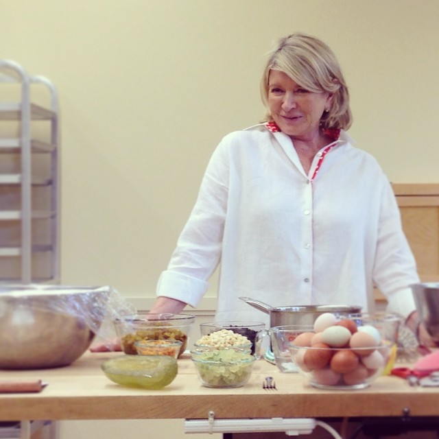 Super demo by @marthastewart at @kingarthurflour. Great stories, great recipes.