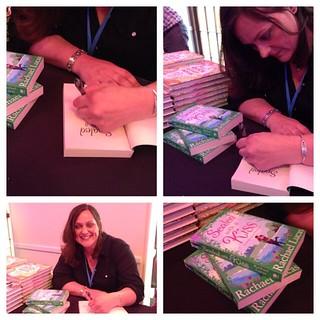@karamina book signing at #britmumslive #sealedwithakiss
