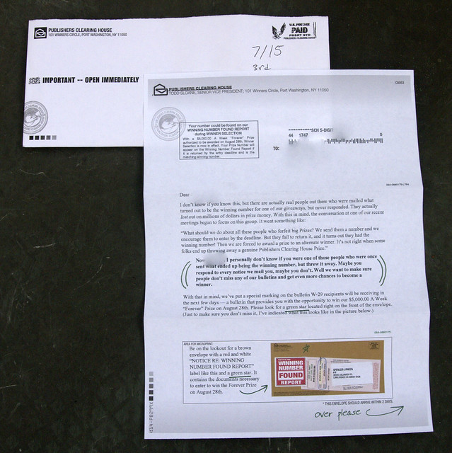 Drowning in Junk Mail – How to Opt-Out of Publishers Clearing House