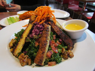 Hail Kale Salad with Blackened Tempeh at Veggie Grill