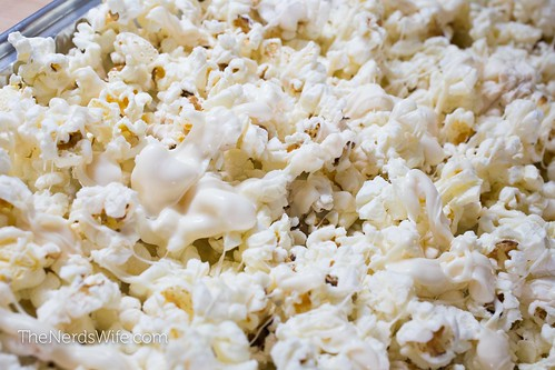 Firecracker Popcorn with White Chocolate