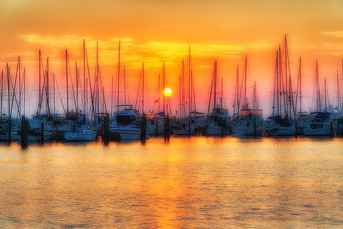 sailboat sunrise stpetersburg florida processing nik hdr photomatix