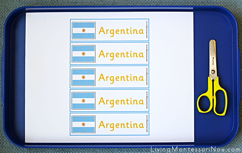 Argentina Bookmark Cutting Activity