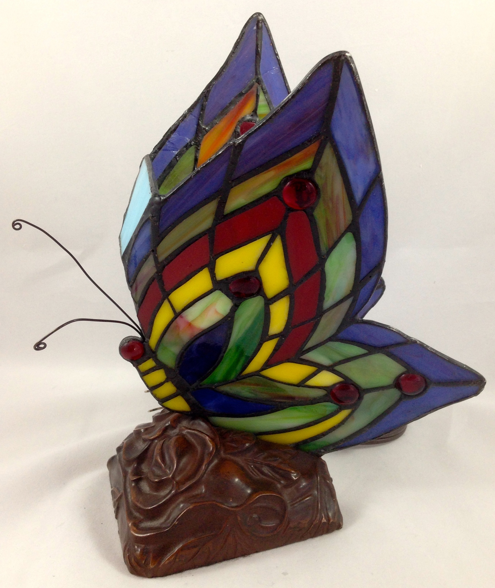 details about tiffany style butterfly lamp stained glass night light. Black Bedroom Furniture Sets. Home Design Ideas