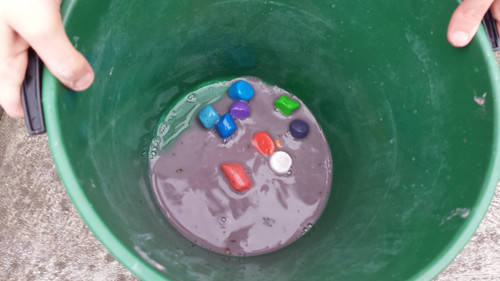 wet chalk painting