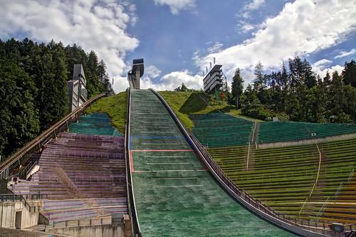 architecture austria europe hill landmark innsbruck funicular bergiselskijumpstadium panoramicviewplatform breathtakingviewsofinnsbruck