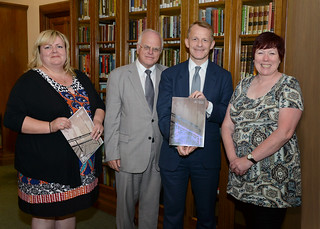 School libraries APPG launch_David Laws MP _ Lord Graham Tope _ Barbara Band CILIP President _ Annie Mauger CILIP CEO_7 July 2014