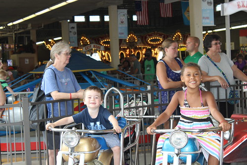 Rehobeth Beach - Funland - Sagan and Mya on Motorcycles