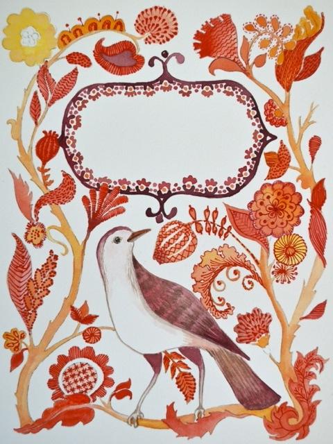 redwork bird 1