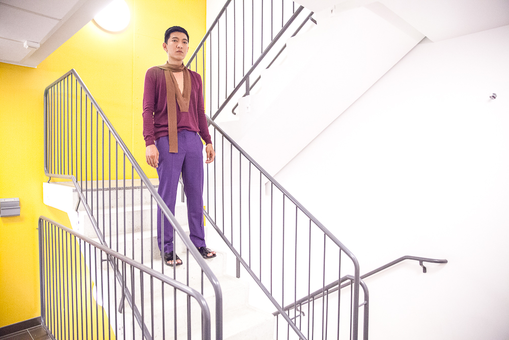 Bryanboy wearing Prada pre-fall 2014 in Stockholm