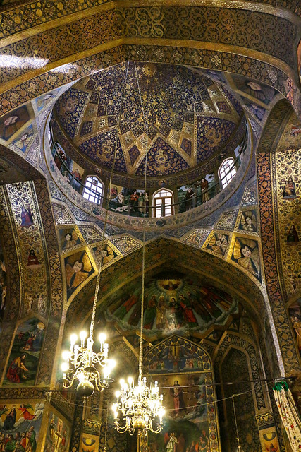 Interior decoration of Vank Cathedral, Isfahan, Iran イスファハン、ヴァーンク教会の内装
