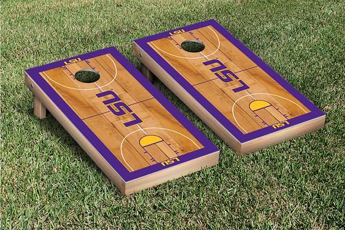 LSU Tigers Cornhole Game Set Basketball Court