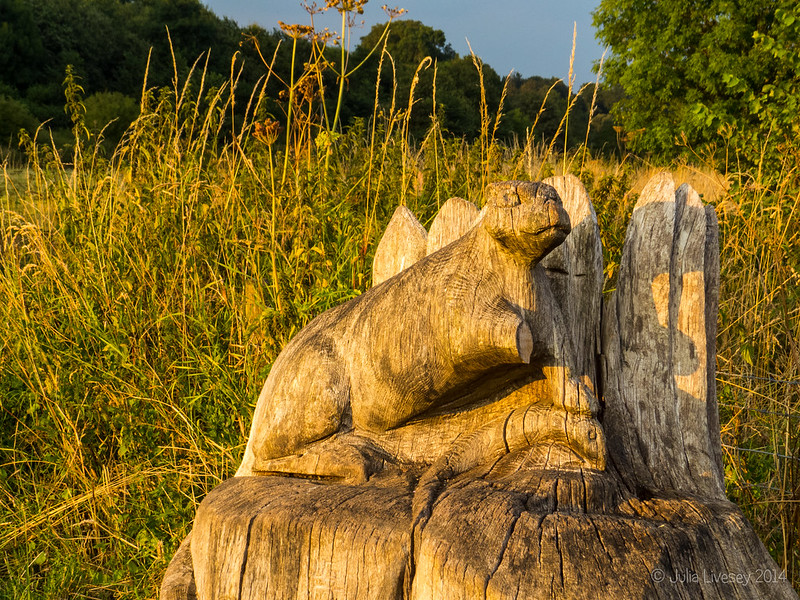 Otter Carving in the setting sun