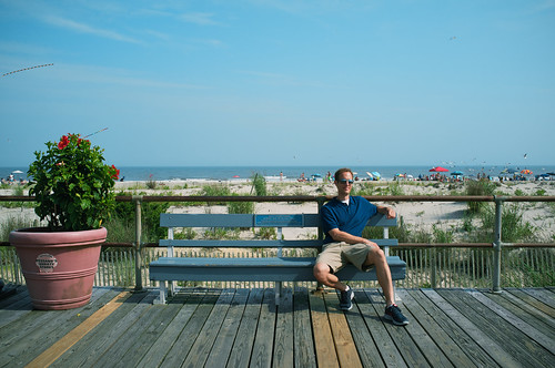 Mark on the Ocean City, NJ boardwalk.