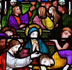 The Miracles of Christ: turning water into wine at Cana (detail, Robert Bayne, 1865)