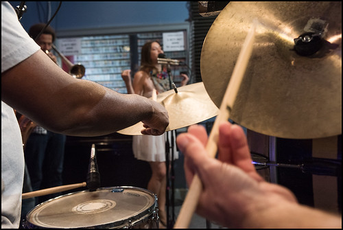 Soul Brass Band perform in studio during the WWOZ Spring Pledge Drive on March 20, 2017. Photo by Ryan Hodgson-Rigsbee www.rhrphoto.com