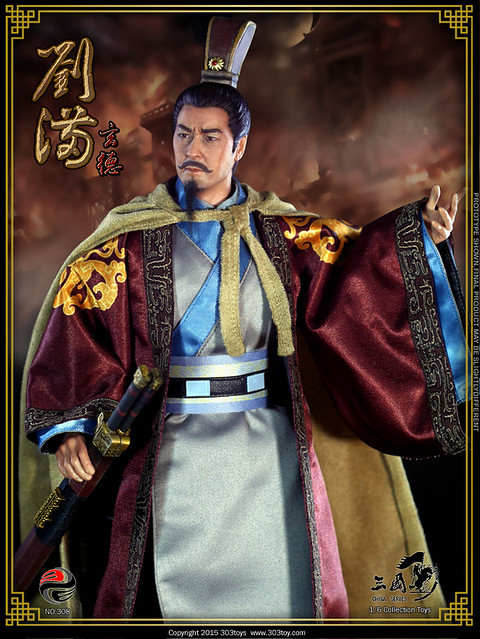 303 TOYS 303T-308 Three Kingdoms Series Liu Bei 劉備 (玄德) - 05 20150508144954769