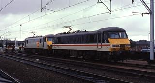 19.08.90 Wolverhampton 90032 and 92047