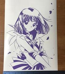 Custom Sailor Saturn vinyl decal 9x12