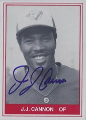 "1982 TCMA - J.J. ""Joe"" Cannon #18 / #425 (Outfielder) - Autographed Baseball Card (Knoxville Blue Jays / Southern League) (card #2)"
