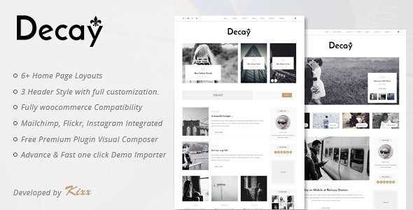 Decay WordPress Theme free download
