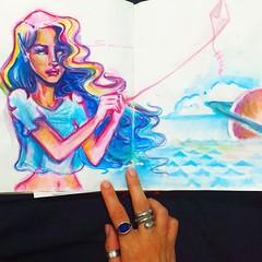 🌙 Old sketch. Old dreams.  #sketch #dream #illustration #secirico #art