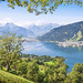 Beautiful landscape with Alps and Zeller See in Zell am See, Sal