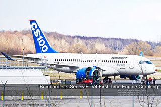 Bombardier CSeries FTV4 First Engine Cranking