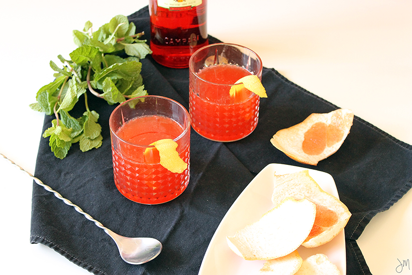 Julip Made Grapefruit Mint Negroni2