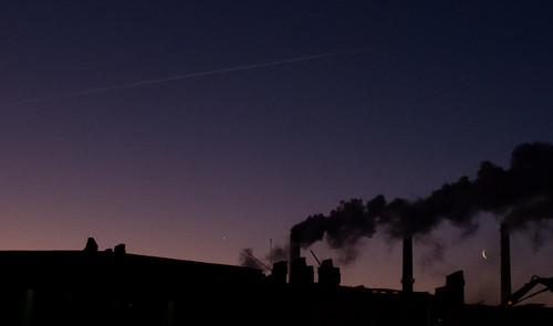 travel sky moon sunrise stpetersburg russia smoke wanderlust spb