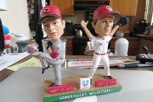 Homer Bailey dual no-hitter bobblehead