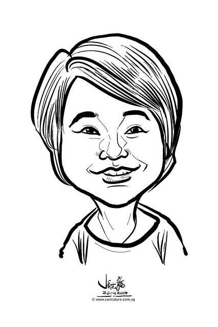 digital live caricature sketching for National Heart Centre Singapore -14