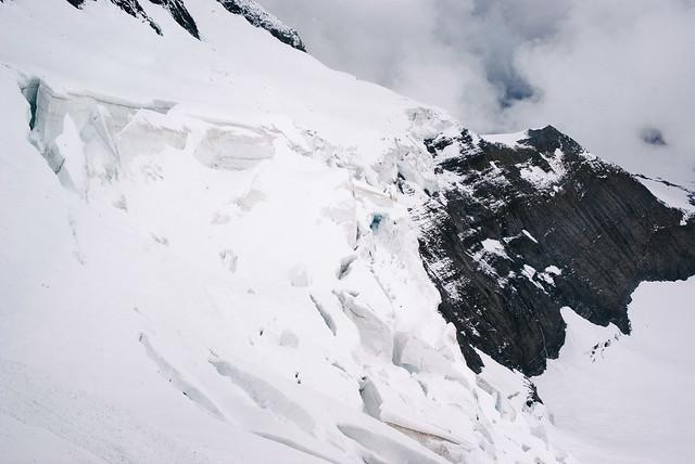 Seracs en las laderas de la Jungfrau