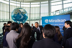 President Obama Talks to Japanese Students