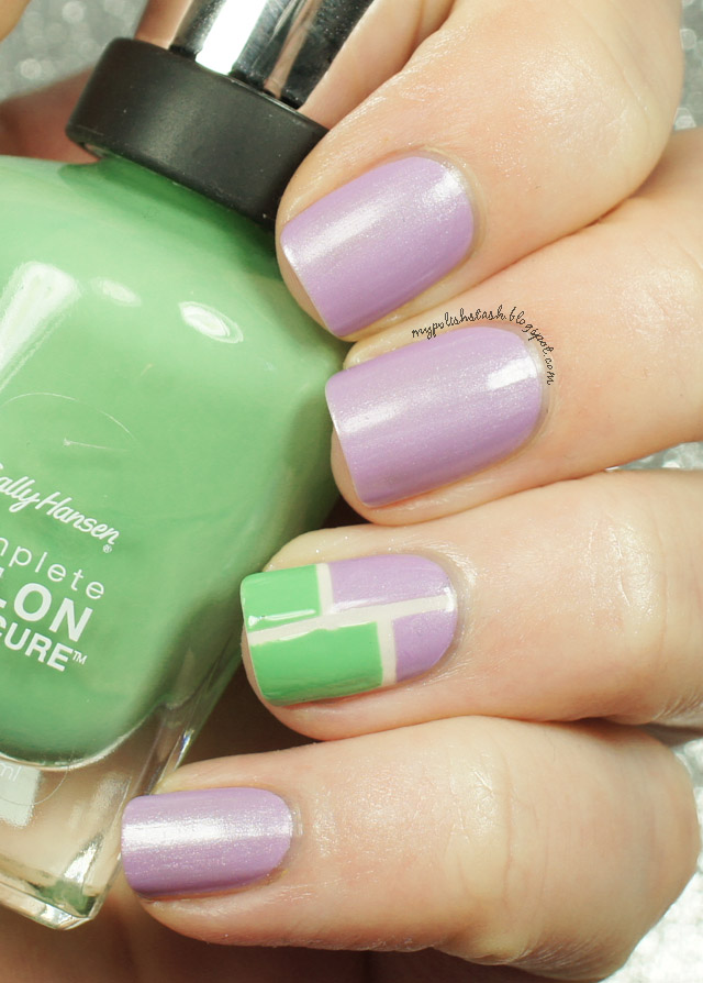 Sally Hansen Designer Collection 2014-Color Block manicure_1