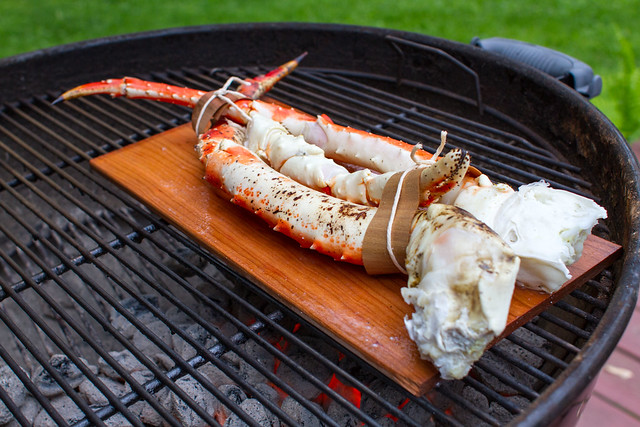 ... on the Grill #302: Planked King Crab Legs & Grilled Lobster Tails