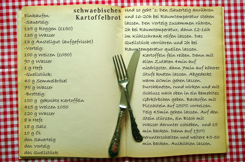 Einkaufszettel schwäbisches Kartoffelbrot by Glasgefluester