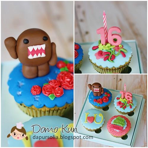 Domo Kun Cupcake Set