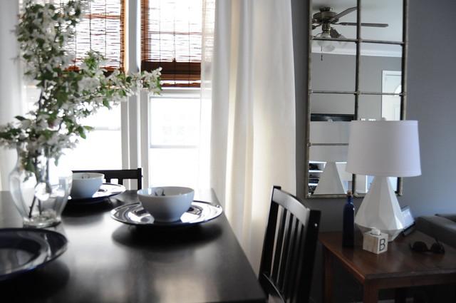 Gray Teal Lime Blue Living Room