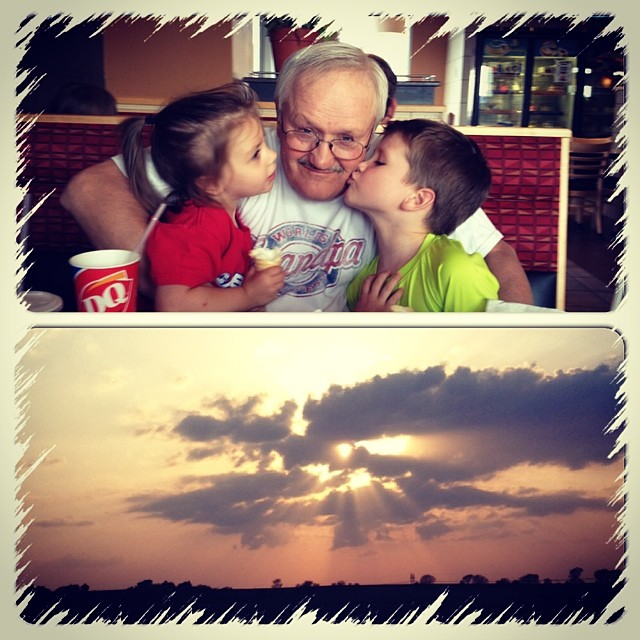 Ice-cream with Gramps followed by a gorgeous sunset. #familyfunnight #creationsings #icecream #100happydays #day20