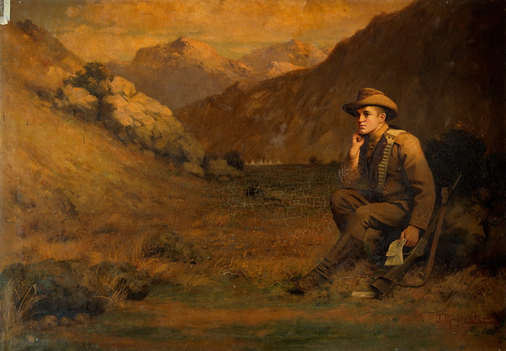 Soldier in a Landscape, J McMaster, 1901