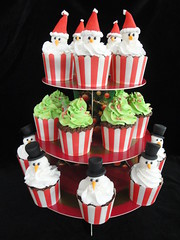 Christmas cupcake tower