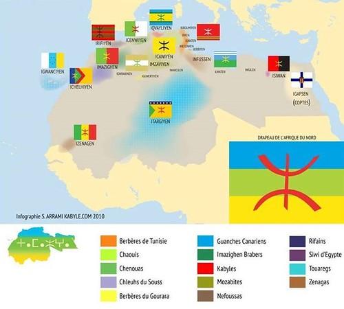 Mapa de los bereberes