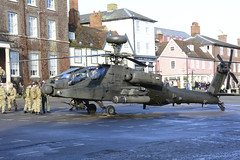 Bury St Edmunds, Angel Hill, Apache Helicopter, 8-2-2014