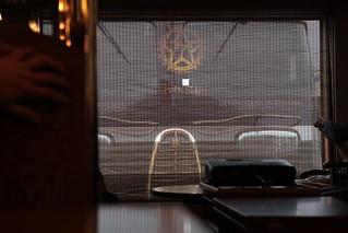 簾のスクリーン