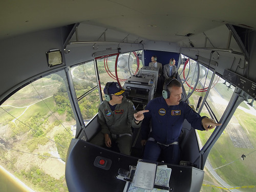 GoPro photo in the cockpit of the Navy airship, MZ-3A