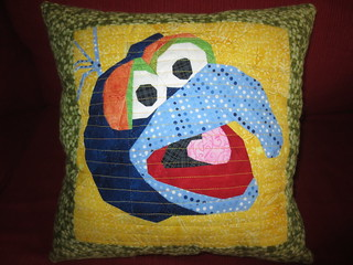 Gonzo Side of the Floyd/Gonzo Pillow