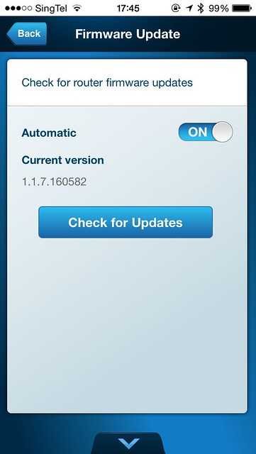 Linksys Smart Wi-Fi iOS App - Firmware Update
