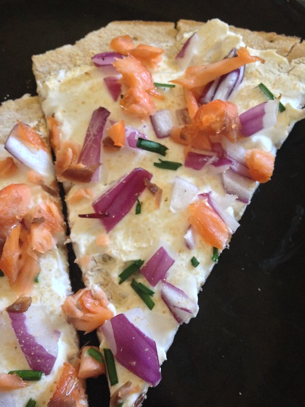Smoked Salmon Pizza - warm